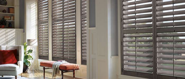 Shutters from Hunter Douglas available at The Carpet Man in Clearlake and Lakeport.