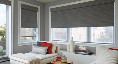 Roller Shades from Hunter Douglas available at The Carpet Man in Clearlake and Lakeport.