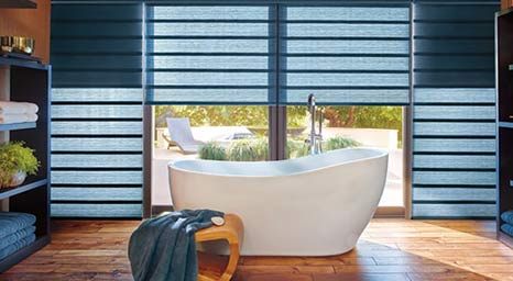 Roman Shades from Hunter Douglas available at The Carpet Man in Clearlake and Lakeport.