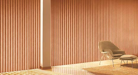 Vertical Blinds from Hunter Douglas available at The Carpet Man in Clearlake and Lakeport.