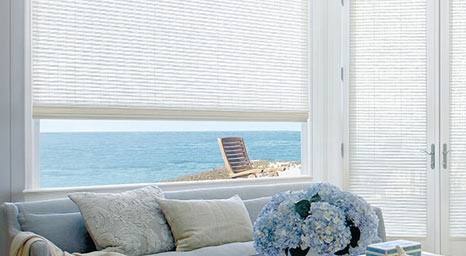Woven Wood Blinds from Hunter Douglas available at The Carpet Man in Clearlake and Lakeport.